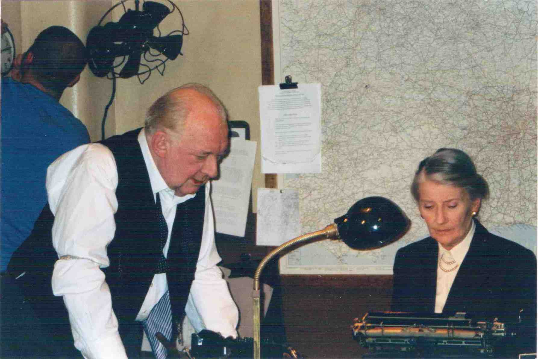 Phyllida Law & David Ryall as Churchill in the war rooms