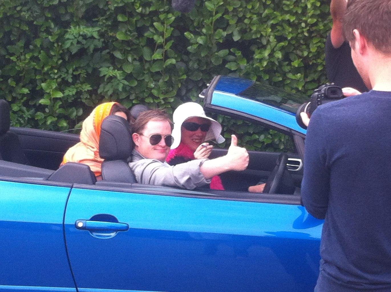 Edward as James Bond filming
